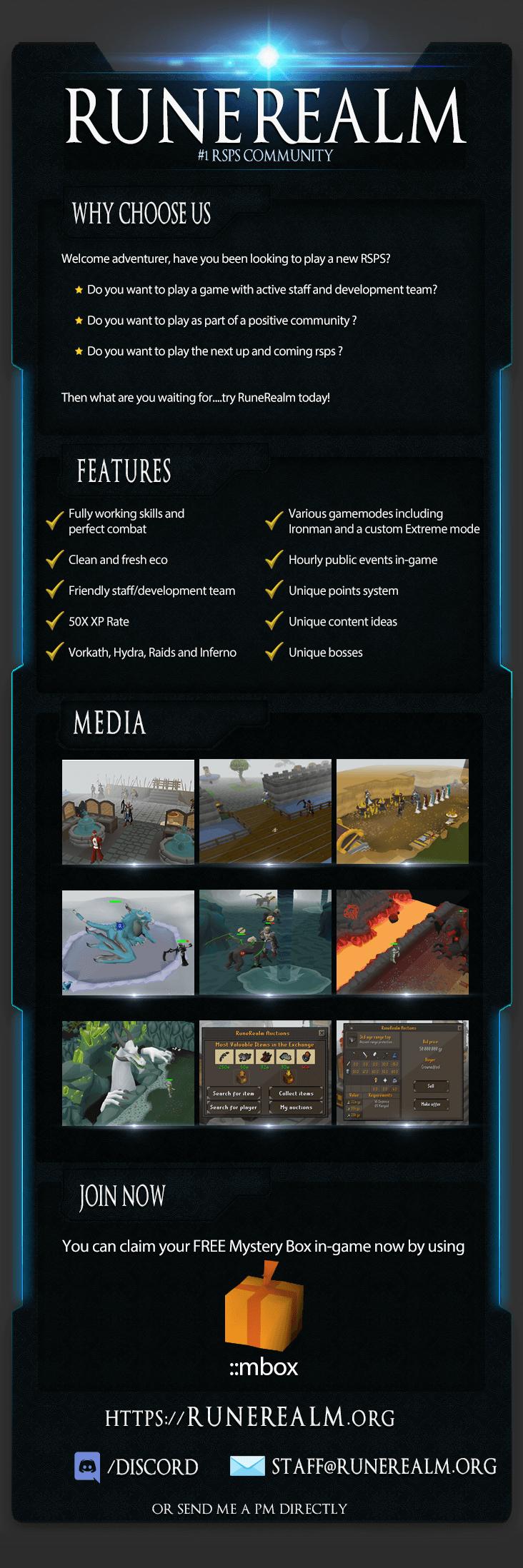 RuneRealm server information media